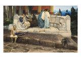 Exedra, 1871 Art by Sir Lawrence Alma-Tadema