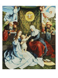 The Madonna and Child, with St. Ann, Surrounded by Angels and Donors Giclee Print by Bernard van Orley