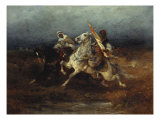 The Night Raid Giclee Print by Adolph Schreyer
