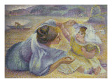 Mother Playing with Her Child, Mere Jouant Avec Son Enfant, c.1897 Posters by Henri Edmond Cross