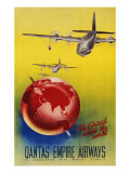 Qantas Empire Airways, London, Sydney, 1935 Giclee Print