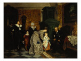 Family Visit, 1869 Giclee Print by Carl L.f. Becker