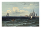 View of New York Harbor Giclee Print by Thomas Birch