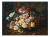 Mixed Bouquet of Roses. Bischoff, 1915 Giclee Print by Franz Arthur Bischoff