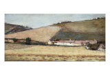 Farm Among the Hills, Near Giverny, 1898 Giclee Print by Theodore Robinson