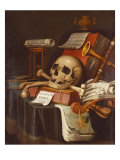 To Vanity, a Vanitas Giclee Print by Evert Collier