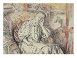 Woman Resting on a Divan, Femme Se Reposant Sur Un Divan, 1908 Reproduction proc&#233;d&#233; gicl&#233;e par Georges Lemmen