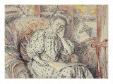 Woman Resting on a Divan, Femme Se Reposant Sur Un Divan, 1908 Prints by Georges Lemmen