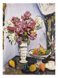 Summer Blossom and a Bowl of Fruit, with a Cup and Saucer Prints by George Leslie Hunter
