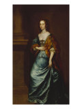 Portrait of Mary Villiers, Duchess of Lennox and Richmond, in a Blue Dress, 17th Century Poster von Sir Anthony Van Dyck