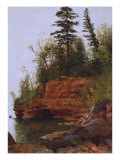 Rocky Cove Posters by Albert Bierstadt