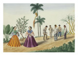 Manila and Its Environs: Filipinos Playing Football Giclee Print by Jose Honorato Lozano
