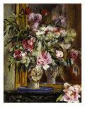 Vase of Flowers, Vase de Fleurs, 1871 Giclee Print by Pierre-Auguste Renoir