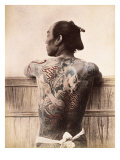 Japanese Tattooed Man, c.1880 Lámina giclée