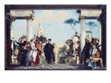 The Arrival of Henri Iii at the Villa Contarini. Before 1750 Giclee Print by Giambattista Tiepolo