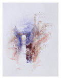 Italian Castle Above a River, c.1827 Giclee Print by J.M.W. Turner