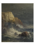Rocky Coast Giclee Print by Edward Moran