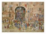 Venice: Riva Degli Schiavone, Castello, 1898 Posters by Maurice Brazil Prendergast