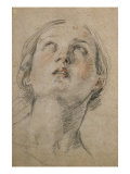 Head of a Woman Looking Up Poster by Guido Reni