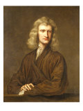Portrait of Sir Isaac Newton, the Great Philosopher, Mathematician and Astronomer Poster by Godfrey Kneller
