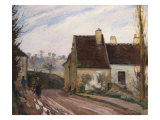 The Cottages Near D'Osny, Les Masures Pres D'Osny, 1872 Poster by Camille Pissarro