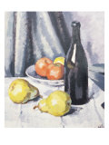 Apples, Pears and a Black Bottle on a Draped Table Prints by Samuel John Peploe