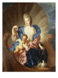Portrait of the Comtesse de Cozel with Her Son, as Venus and Cupid Giclee Print by Francois de Troy