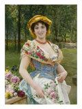 Rose Celebration, Tripudio Di Rose, 19th Century Poster by Federigo Andreotti
