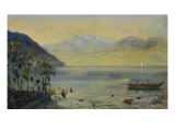 Lake Leman with the Dents du Midi in the Distance, 1863 Giclee Print by John William Inchbold