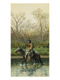 Indian on Horseback, 1905 Giclee Print by Henry F. Farny