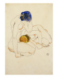 Two Friends, 1912 Giclee Print by Egon Schiele
