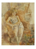 Young Boy Seated, Jeune Fils Assise Konst av Jules Pascin