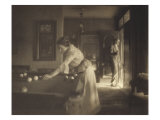 The Billiard Game, c.1907 Giclee Print by Gertrude Kasebier