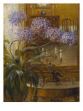 Agapanthus Before a Mirror. Late 19th Century Giclee Print by Carl Budtz Moller