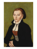Portrait of Katharina Von Bora, 1472-1553 Art by Lucas Cranach the Elder