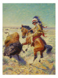 Chief Spotted Tail Shooting Buffalo, c.1894 Giclee Print by Louis Maurer