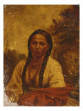 Dakota Indian Woman Giclee Print by William W. Armstrong