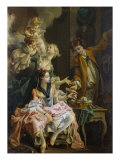 The Amatory Morning, La Galante Matinee Giclee Print by Francois Boucher