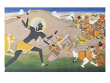 Kali Slaying Demons. Illustration to the Markanddeya Purana. Jaipur, c.1800-1820 Giclee Print