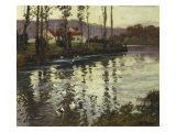River Landscape with Ducks Giclee Print by Fritz Thaulow