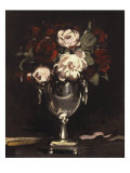 Red and White Roses in a Silver Urn, c.1897 Prints by Samuel John Peploe
