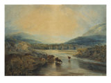 Abergavenny Bridge, Monmouthshire: Clearing Up After a Showery Day, 19th Century Giclee Print