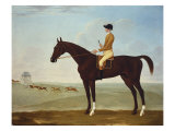 Chesnut Racehorse with Jockey Up on Newmarket Heath, 18th Century Giclee Print by John Byam Shaw