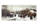 The Arrival of Prince Friedrich Karl and His Staff at the Battlefield of Vionville, 1876 Giclee Print by Conrad Freyberg