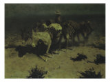 Pack Train, 1909 Poster by Frederic Sackrider Remington