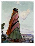 Navajo Shepherdess. Ira Diamond Gerald Cassidy Giclee Print by Ira Diamond Gerald Cassidy