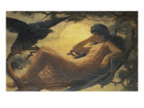 And the Night Raven Sings, Bosom'd High in the Tufted Trees, Where Perhaps Some Beauty Lies Giclee Print by John Scott