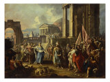 The Return of Alexander the Great to Rome Giclee Print by Francesco Fontebasso