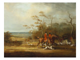 Drawing Cover-Huntsmen and Hounds in an Extensive Wooded Landscape, 1807 Giclee Print by Samuel Henry Alken