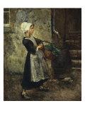 The Vegetable Girl, 1881 Giclee Print by Julius Gari Melchers